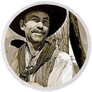 Hank Worden Publicity Photo Red River 1948-2013 Round Beach Towel