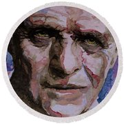 Round Beach Towel featuring the painting Hannibal by Laur Iduc