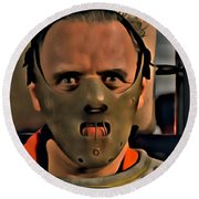 Hannibal Lecter Round Beach Towel