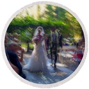 Round Beach Towel featuring the photograph Happily Ever After by Alex Lapidus