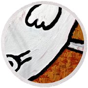 Happiness 12-010 Round Beach Towel by Mario Perron