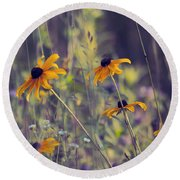 Happiness Is In The Meadows - L03 Round Beach Towel