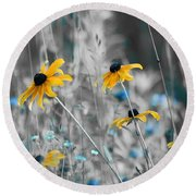 Happiness Is In The Meadows - Sc02a Round Beach Towel