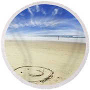 Happiness Round Beach Towel