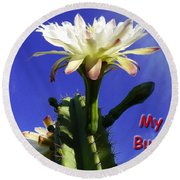Round Beach Towel featuring the photograph Happy Birthday Card And Print 15 by Mariusz Kula