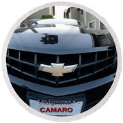 Round Beach Towel featuring the photograph Happy Camero by Clayton Bruster