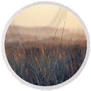 Round Beach Towel featuring the photograph Happy Camp Canyon Magic Hour by Kyle Hanson