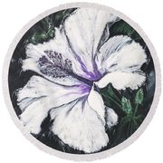 Happy Hibiscus Round Beach Towel