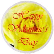 Happy Valentine's Day Round Beach Towel