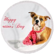 Fifty Shades Of Pink - Happy Valentine's Day Round Beach Towel