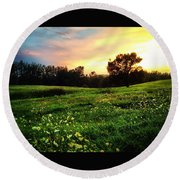 Happy Valley Round Beach Towel