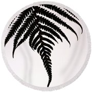 Round Beach Towel featuring the photograph Hapu'u Frond Leaf Silhouette by Lehua Pekelo-Stearns