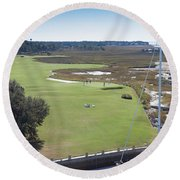 Harbourtown Golf Course 18th Hole Round Beach Towel