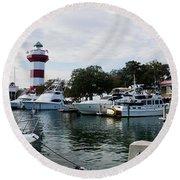 Harbourtown Harbor Round Beach Towel