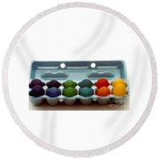 Round Beach Towel featuring the photograph Hard Boiled Spectrum  by Michael Hoard