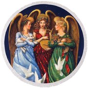 Hark The Herald Angels Sing Round Beach Towel
