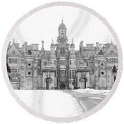 Harlaxton Manor Round Beach Towel