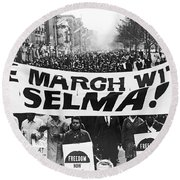 Harlem Supports Selma Round Beach Towel