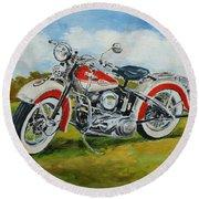 Harley Davidson 1943 Round Beach Towel