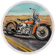 Harley Davidson 1946 Round Beach Towel