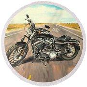 Harley Davidson 883 Sportster Round Beach Towel