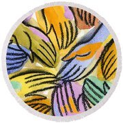 Multi-ethnic Harmony Round Beach Towel