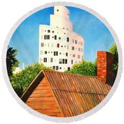 Harmony Of Old And New  Round Beach Towel