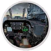 Harrier Cockpit Round Beach Towel
