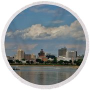 Harrisburg Skyline Round Beach Towel