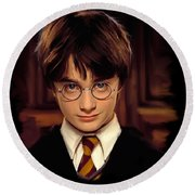 Harry Potter Round Beach Towel by Paul Tagliamonte