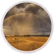 Harvest Rainbow Round Beach Towel