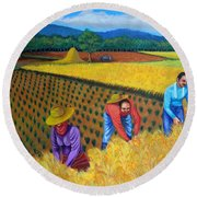 Harvest Season Round Beach Towel