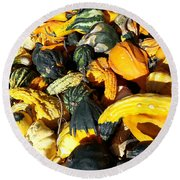 Harvest Squash Round Beach Towel