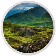Hatcher's Pass  Round Beach Towel