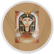 Hathor Rendition Round Beach Towel