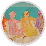Hats By Jrr Round Beach Towel by First Star Art