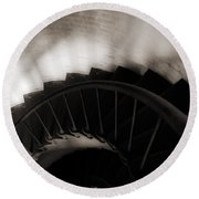 Round Beach Towel featuring the photograph Hatteras Staircase by Angela DeFrias