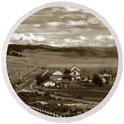 Hatton Ranch Carmel Valley From Highway One California  1940 Round Beach Towel