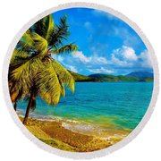 Haulover Bay Usvi Round Beach Towel