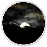 Haunting Horizon Round Beach Towel