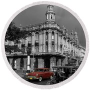 Havana Red Round Beach Towel