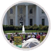 Round Beach Towel featuring the photograph Have A Nice Doomsday by Ed Weidman