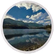Haviland Lake Round Beach Towel