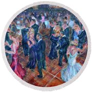 Having A Ball - Dancers Round Beach Towel