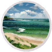 Hawaii Beach Round Beach Towel