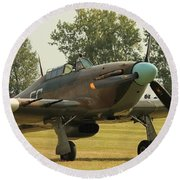 Hawker Hurricane Taxing Round Beach Towel