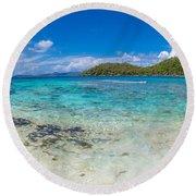Hawksnest Beach, St. John, Us Virgin Round Beach Towel