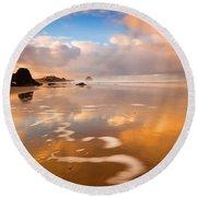 Haystack Gold Round Beach Towel