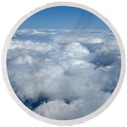 Head In The Clouds Art Prints Round Beach Towel