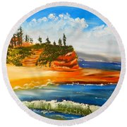 Headlands Round Beach Towel